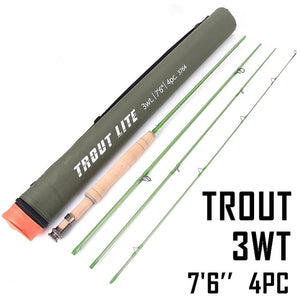 Maximumcatch Trout Fly Fishing Rod IM12 Graphite Moderate Action Light Presentation With Cordura Rod Tube For Trout Angler