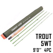 Load image into Gallery viewer, Maximumcatch Trout Fly Fishing Rod IM12 Graphite Moderate Action Light Presentation With Cordura Rod Tube For Trout Angler