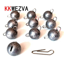 Load image into Gallery viewer, KKWEZVA 10PSC/Lot 6g-18g Lead Sinker Head Hook Jigs Bait Fishing Hooks For Soft Lure Fishing Tackle Lure Fishing tools