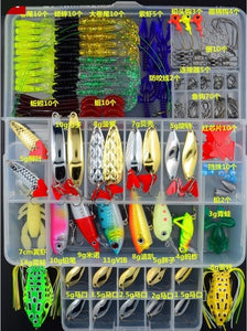 205/206/207Pcs Fishing Lures Set Mixed Minnow Plier Grip Spoon Hooks Soft Lure Kit In Box Artificial Bait Fishing Pesca ER025