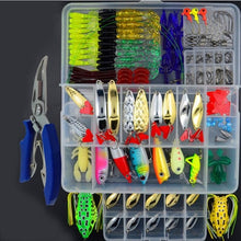 Load image into Gallery viewer, 205/206/207Pcs Fishing Lures Set Mixed Minnow Plier Grip Spoon Hooks Soft Lure Kit In Box Artificial Bait Fishing Pesca ER025