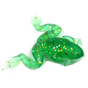 Frog Crystal Glass Figurine Blue Dots Green Hand Painted Animal Collectible Gift