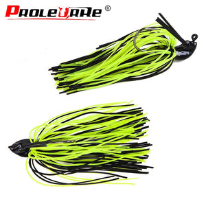 1Pcs 7g 10g 14g Silicone Jig Head Skirt Beard Fishing Lures Fly Rubber Swim Bass Hook Bait Isca Artificial Para Pesca Leurres