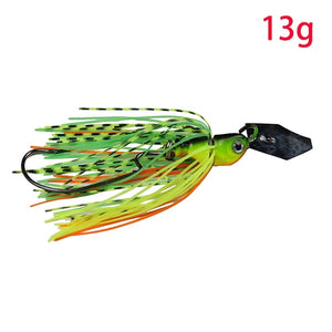 JonStar 13G/16G spinner bait fishing lure Buzzbait chatter bait wobbler isca artificial rubber skirt for bass pike walleye