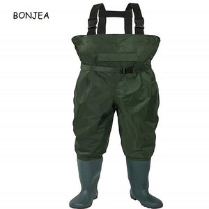 100% Waterproof Fishing Waders For Fisherman Breathe Freely Nylon PVC Chest Man