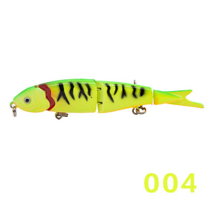 fishing hard baits jointed bait swimbait 4 sections 4 play lures 120mm sinking action bass pike perch leurre de peche