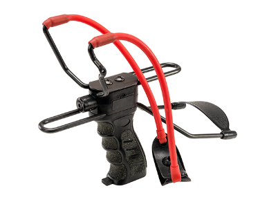 Umarex USA Slingshot Black with Red Power Band with Laser