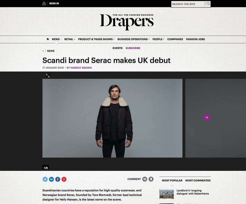 Scandi brand Serac makes UK debut