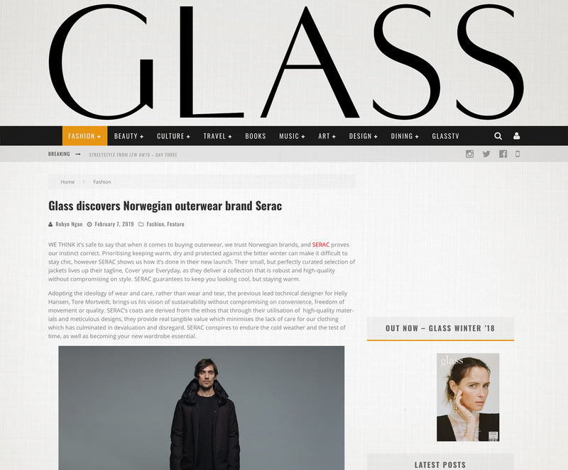 Glass discovers Norwegian outerwear brand Serac