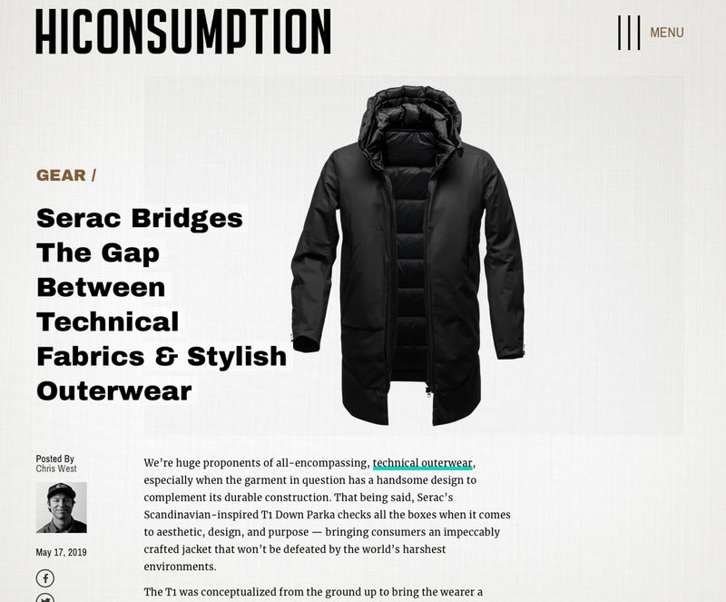 Serac Bridges The Gap Between Technical Fabrics & Stylish Outerwear