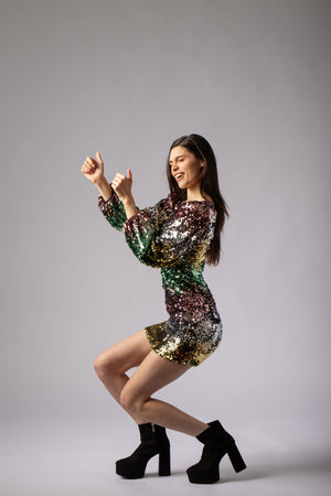beautiful sequin party dress