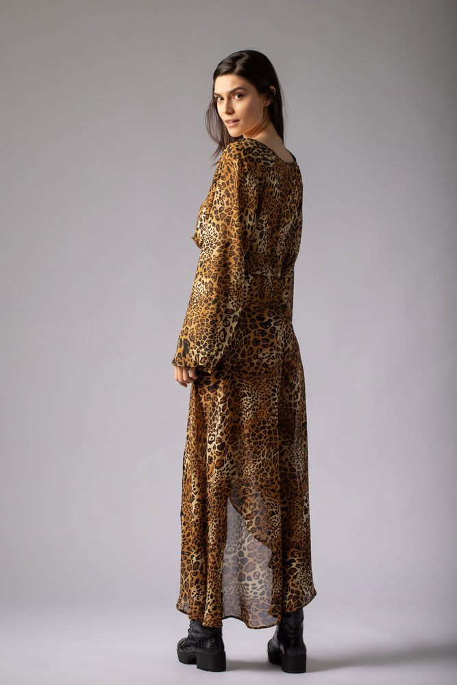 beautiful animal print leopard print sexy dress