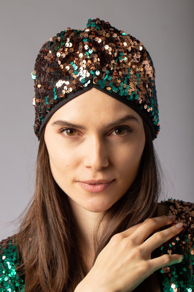 beautiful sequin turban headband head accessory