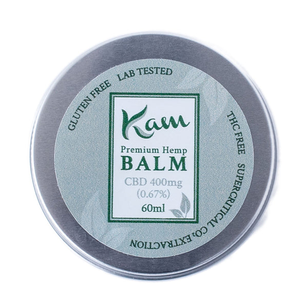 The CBD Farmacy Kam broad spectrum balm 400mg UK and Ireland front