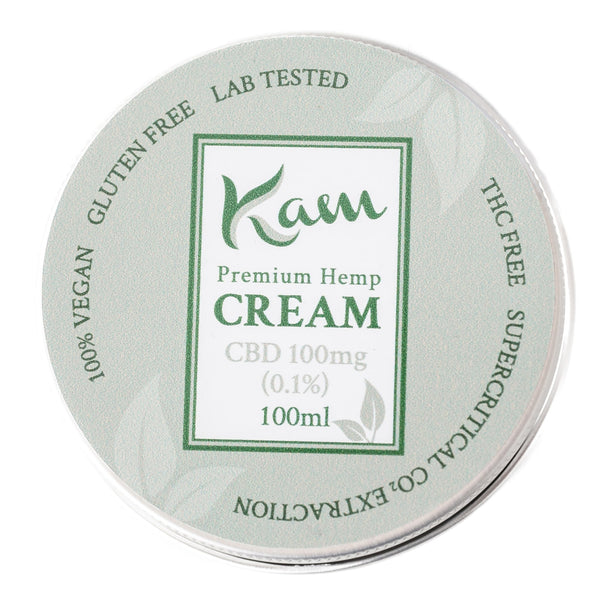 The CBD Farmacy Kam vegan cream 100mg topical UK and Northern Ireland front
