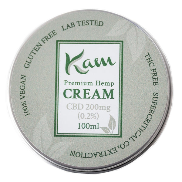 The CBD Farmacy Kam vegan cream 200mg topical UK and Northern Ireland front