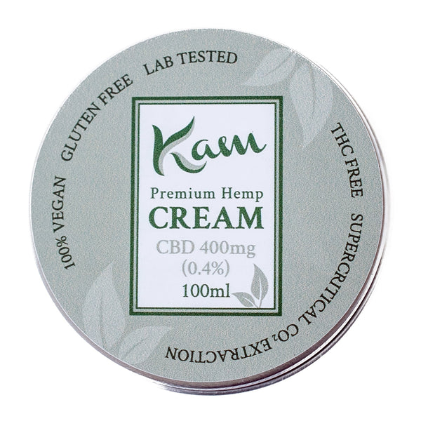 The CBD Farmacy Kam vegan cream 400mg topical UK and Northern Ireland front