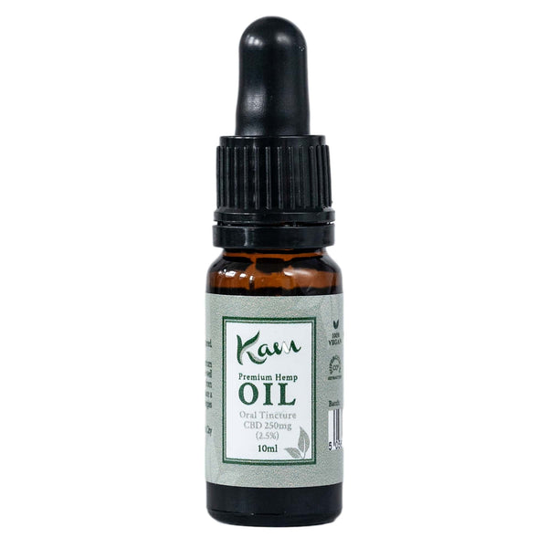 The CBD Farmacy Kam premium hemp oil tincture 250mg Ireland UK front
