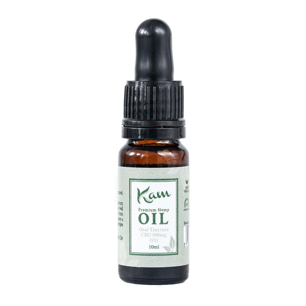 The CBD Farmacy Kam premium hemp oil tincture 500mg Ireland UK front