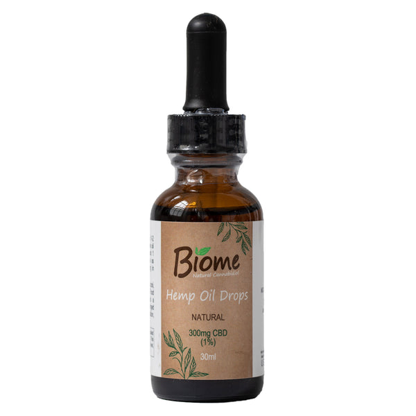 Biome CBD Oil Drops 1% 300mg 30ml Natural | TheCBDFarmacy