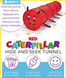 "GigaTent 72"" long (6 Feet) Caterpillar Play Tunnel Red"