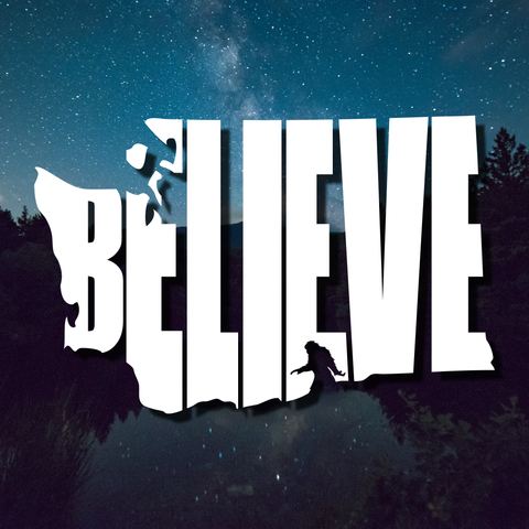 Bigfoot Believe Washington Decal