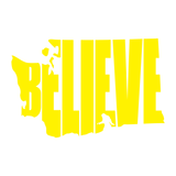 Washington Bigfoot BELIEVE Decal - Bigfoot Decal, Bigfoot Sticker, Washington Decal, Washington Sticker, Car Decal, Window Sticker
