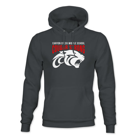 CCMS Cougar Strong Pullover Hoodie