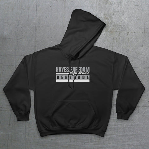 HFHS Hayes Freedom Renegades - Adult Pullover Hoodie - Dukes Decals