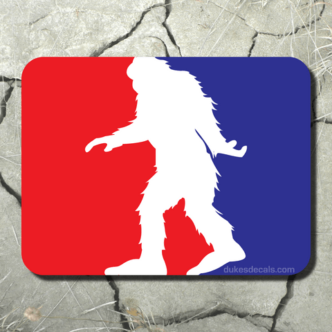 Major League Bigfoot Vinyl Decal - Bigfoot Decal, Bigfoot Sticker, Sasquatch Decal, Sasquatch Sticker, Laptop Decal, Window Decal, Car Decal - Dukes Decals