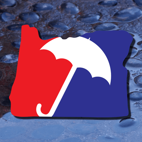 Major League Rain - Oregon | Contour-Cut Vinyl Decal | Laptop Decal | Car Window Decal | Phone Sticker | PNW Decal | Bumper Sticker - Dukes Decals