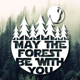 May The Forest Be With You Decal - Star Wars Decal, Laptop Decal, Car Decal, Window Decal