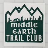 Middle Earth Trail Club Vinyl Decal - LOTR Decal, LOTR Sticker, Lord of the Rings Decal, Hobbit Decal, Car Decal, Laptop Decal, Window Decal - Dukes Decals