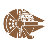 My Other Ride Is The Millennium Falcon Decal - Star Wars Decal, Star Wars Sticker, Millennium Falcon Decal, Window Decal, Car Decal - Dukes Decals