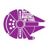 My Other Ride Is The Millennium Falcon Decal - Star Wars Decal, Star Wars Sticker, Millennium Falcon Decal, Window Decal, Car Decal