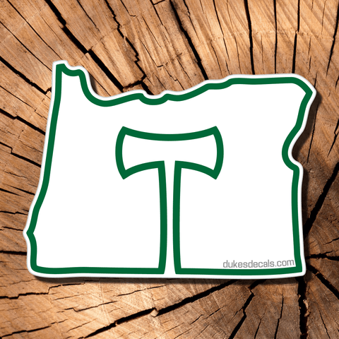 Portland Timbers + Oregon | Contour-Cut Vinyl Decal | Laptop Decal | Car Window Decal | Water Bottle Sticker | PNW decal | Bumper Sticker - Dukes Decals