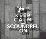 Keep Calm and Scoundrel On Vinyl Decal - Star Wars Decal, Star Wars Sticker, Han Solo Decal, Han Solo Sticker, Laptop Decal, Window Decal - Dukes Decals