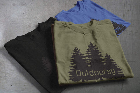 Outdoorsy Trees Unisex T-shirt - Dukes Decals