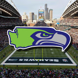 Seahawks and Washington State Decal, Laptop Decal, Car Window Decal, Water Bottle Decal, PNW Decal