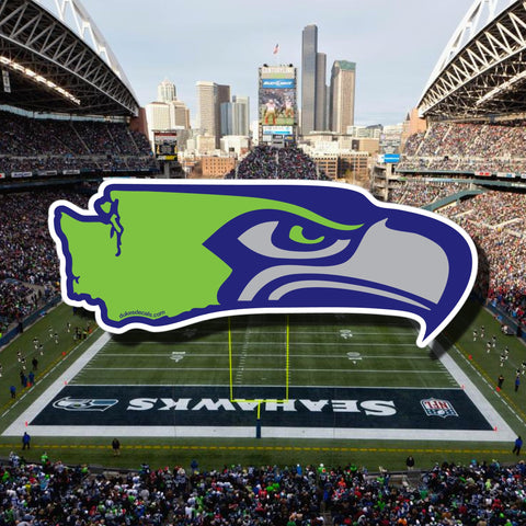 Seahawks and Washington State Decal, Laptop Decal, Car Window Decal, Water Bottle Decal, PNW Decal - Dukes Decals