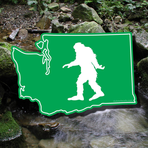 Squatch On, Washington! - Sasquatch Decal, Sasquatch Sticker, Bigfoot Decal, Bigfoot Sticker, Washington Decal, PNW Decal, PNW Sticker