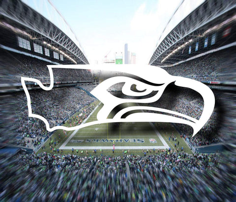 Seahawks Washington State Decal - Seahawks Decal, Seahawks Sticker, Washington Decal, Washington Sticker, Laptop Decal, Car Window Decal - Dukes Decals
