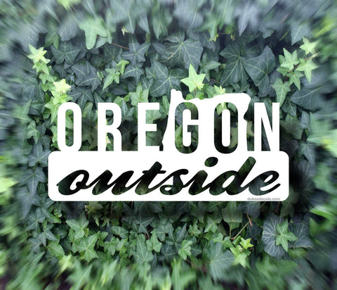 Go Outside Oregon Vinyl Decal - Outdoors Decal, Outdoors Sticker, Oregon Decal, Oregon Sticker, PNW Decal, PNW Sticker, Car Window Decal
