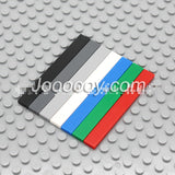10 pcs 1*8 flat tiles MOC bricks