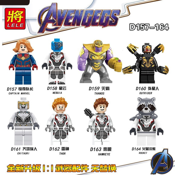 The Avengers Superhero Series mini figures D157-164
