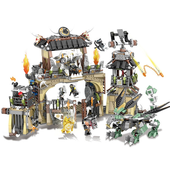 1714pcs bela 10940  ninja dragon pit prison hunters golden samurai  70655