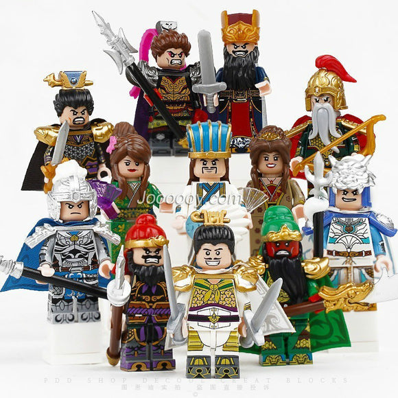 Three Kingdoms Heroes Ancient Soldier Minifigures with original box