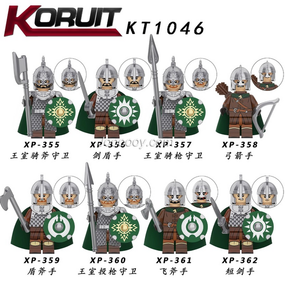 KT1046 Medieval series minifigures