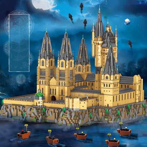 12918pcs S7315 Harry Potter Castle Central Courtyard Epic Extension Model