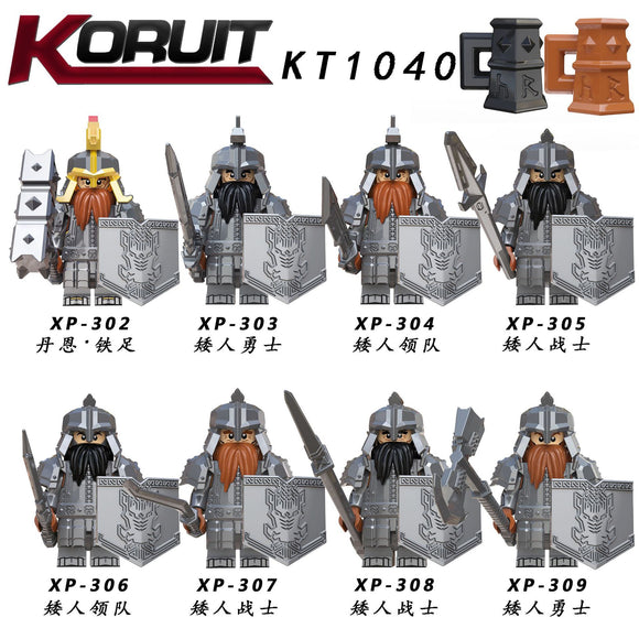 KT1040 Leader Warrior minifigures